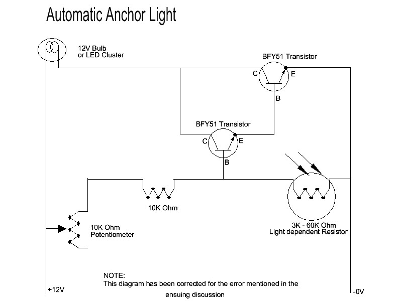DIY auto turn on anchor light circuit?